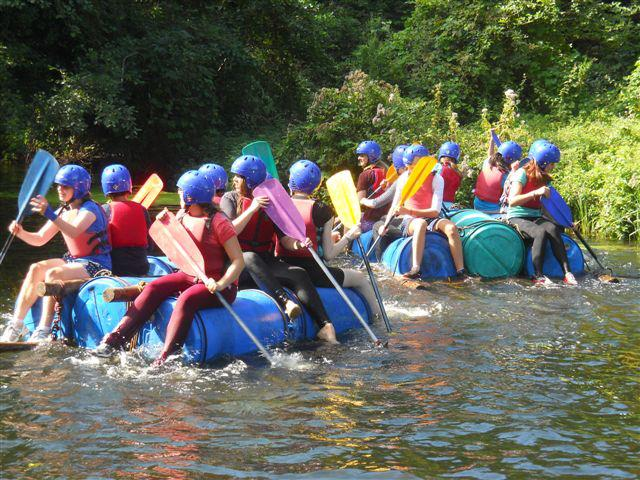 Racing the rapids at Eaton Vale