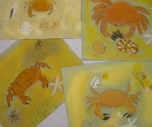 Year-7-art-crab-designs