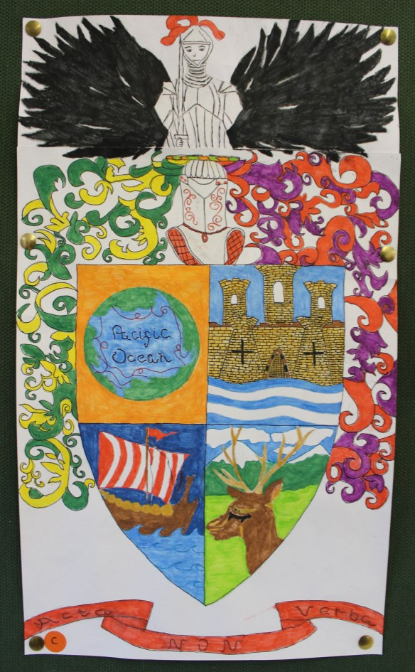 Year 9 design their own coat of arms | Hethersett Old Hall