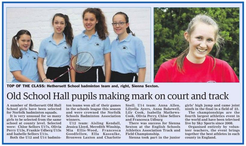 Newspaper-article-sporting-achievement