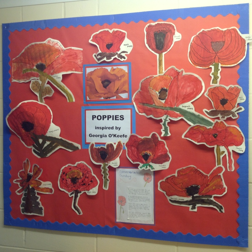 Year 3 and 4 poppy artwork