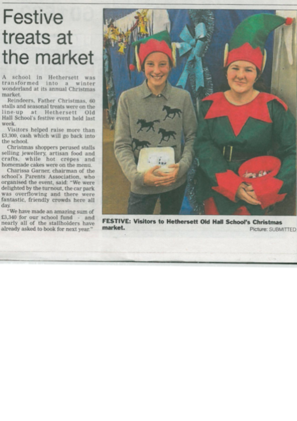 HoHS Christmas Market in Wymondham Mercury 1