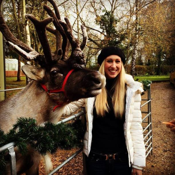 Libby and Reindeer