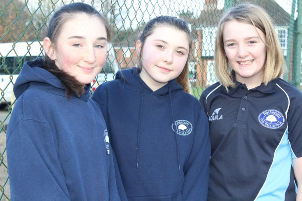 Mia Erin and Caitlin netball