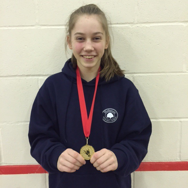 Amy U17 doubles champ