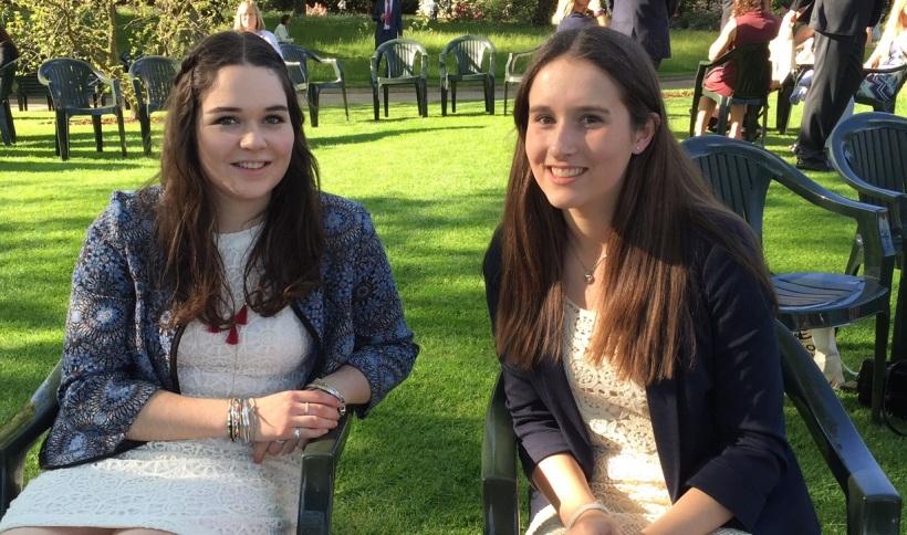 Hannah and Alice at Buck Palace
