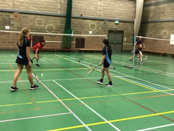 U14 and U16 badminton v Thorpe St Andrew High School